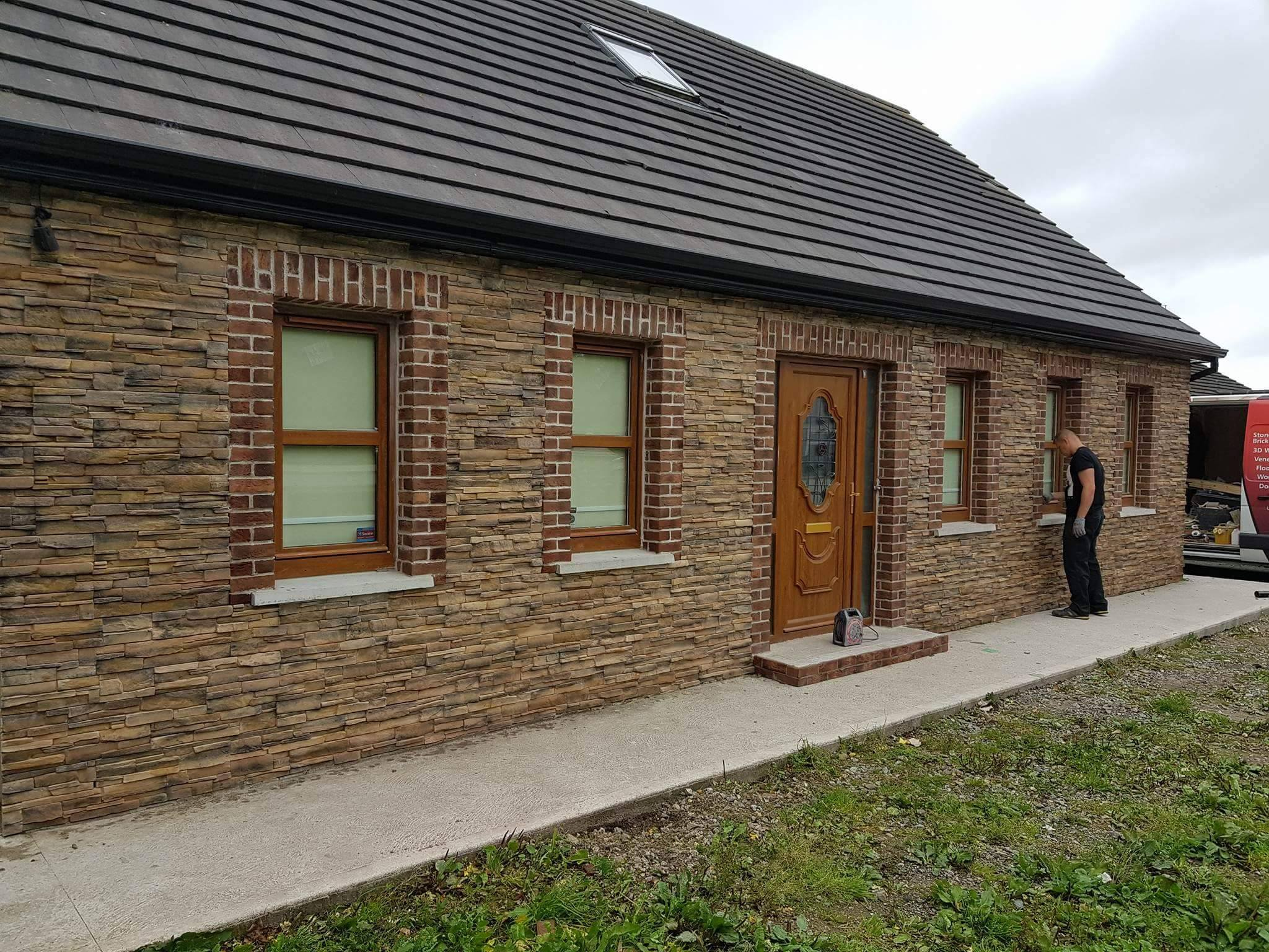 Grenada Russet Stone Wall Cladding For Interior And Exterior Use
