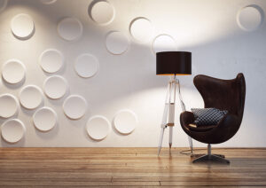 3D Panel Craters - Home decor ideas - textured Wall Panells