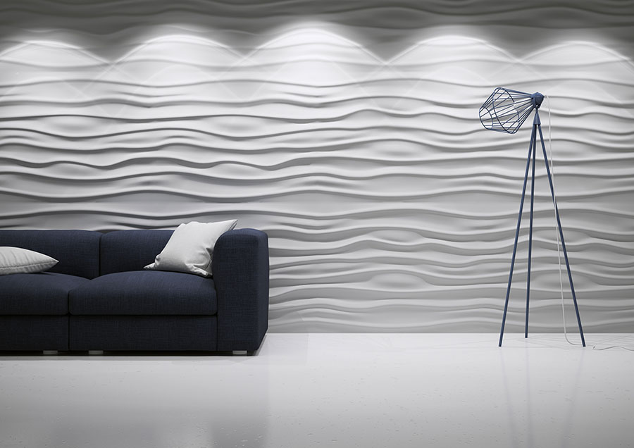 3d wall panels wave design deco stones. Black Bedroom Furniture Sets. Home Design Ideas