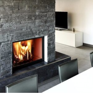Heat resistant tiles for fireplace