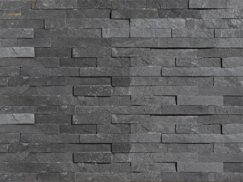 Natural Stone Grey Colour Wall Stone Cladding Deco Stones