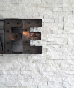 Natural White Stone Cladding (Bianco), Outdoor and Indoor Walls