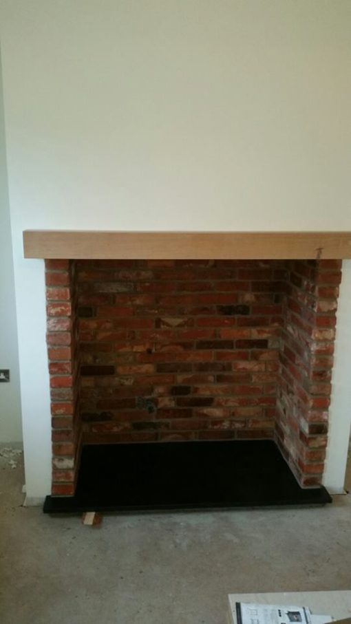 reclaimed brick slips insert fireplace stove