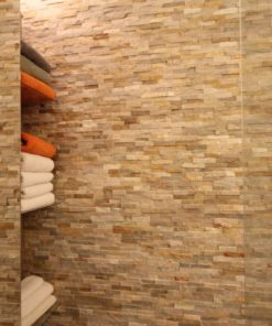 natural stone cladding ivory in bathroom