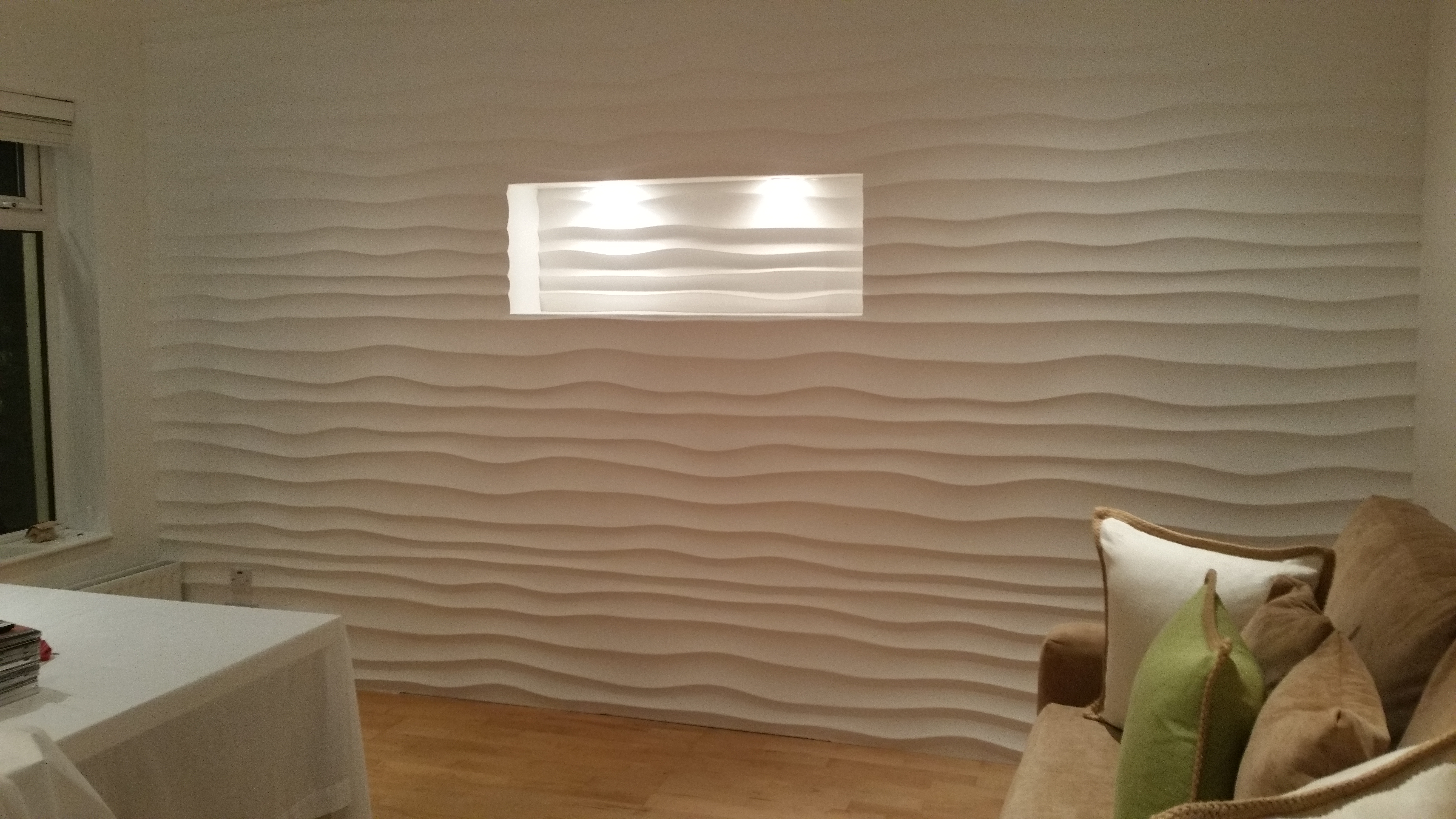 3d wall panels dining room makeover deco stones for Site deco