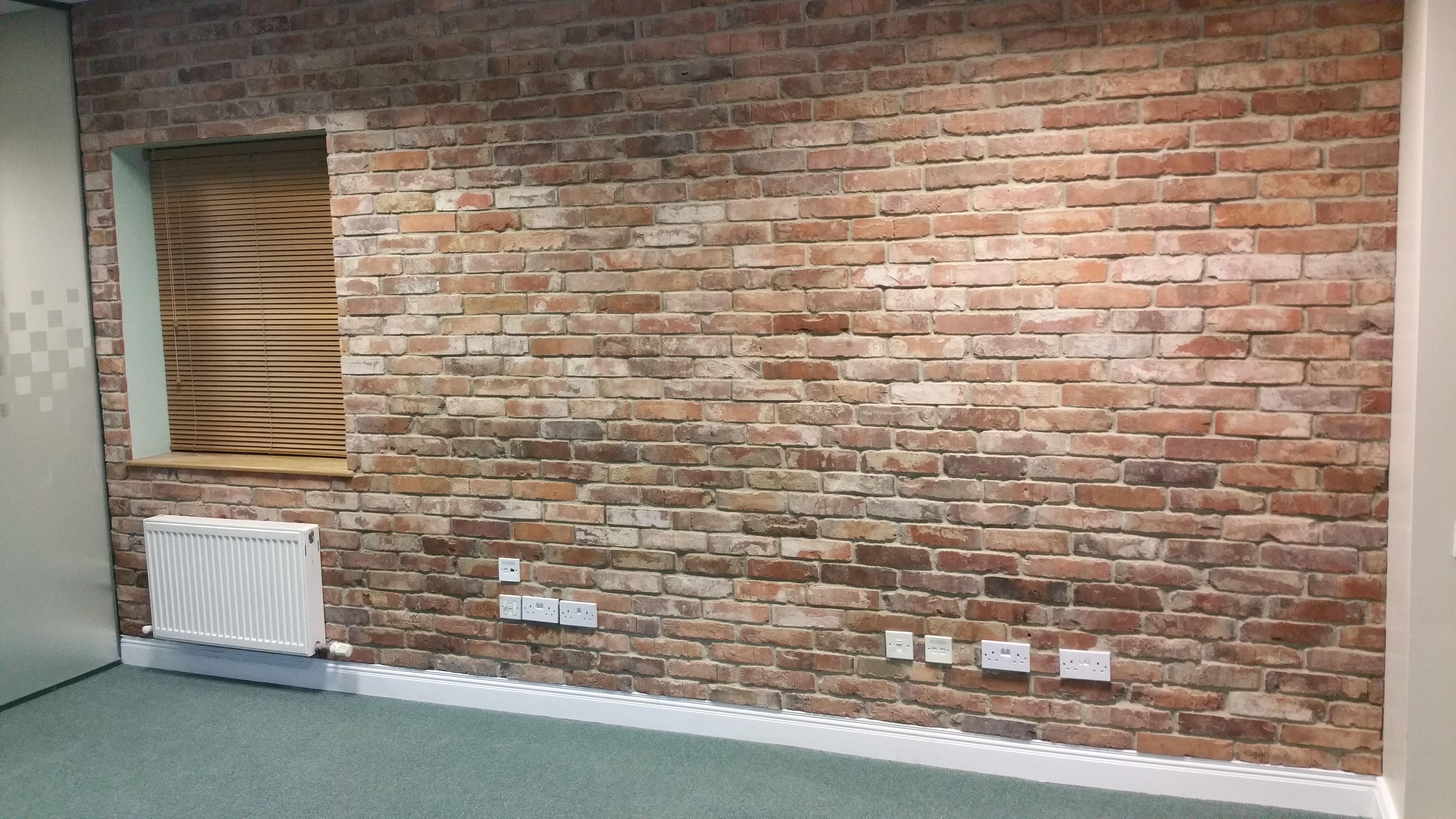 Office Wall Transformation With Real Reclaimed Brick