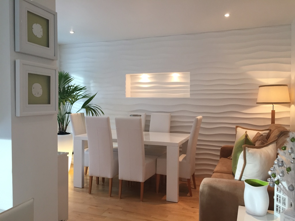 3d Wall Panels Dining Room Makeover Deco Stones