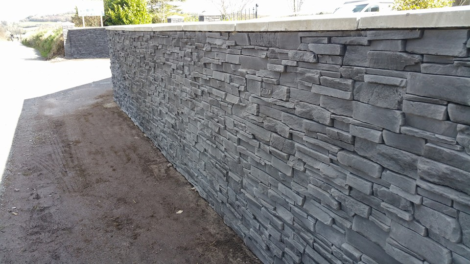 Grenada Graphite Artificial Stone Cladding For Internal
