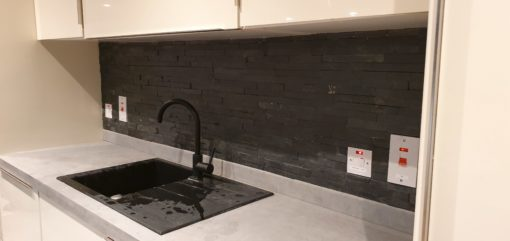 kitchen splashback stone effect tiles