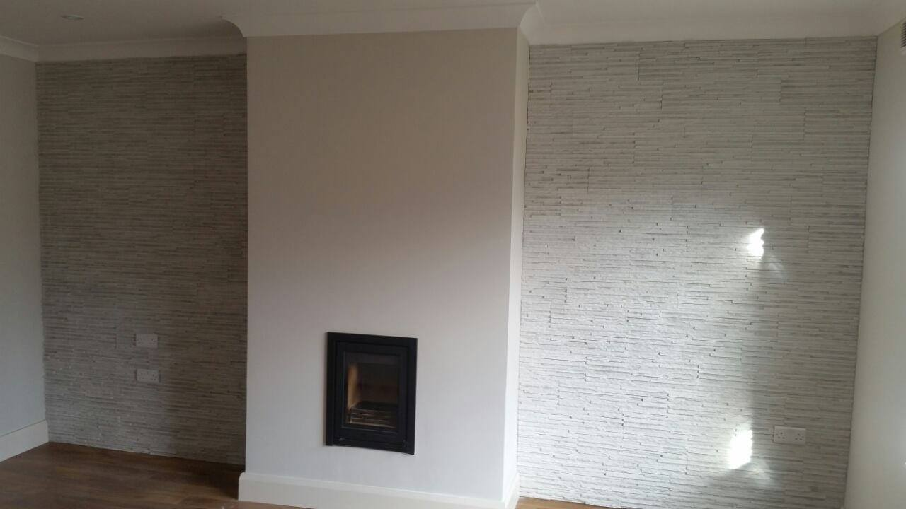 Palermo White Stone Cladding Wall Tiles Outdoor Indoor