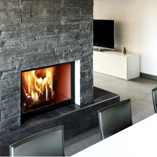 Creta grey stone cladding chimney breast