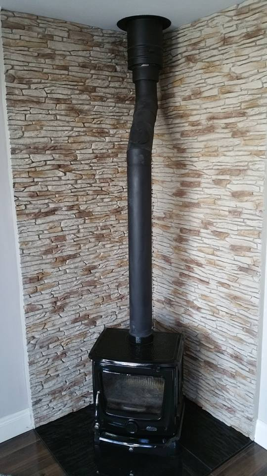 Fireplace, chimney breast transformation - Deco Stones
