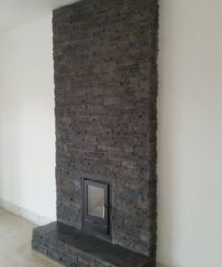 wall stove fireplace cladding decorative tiles heat resistant