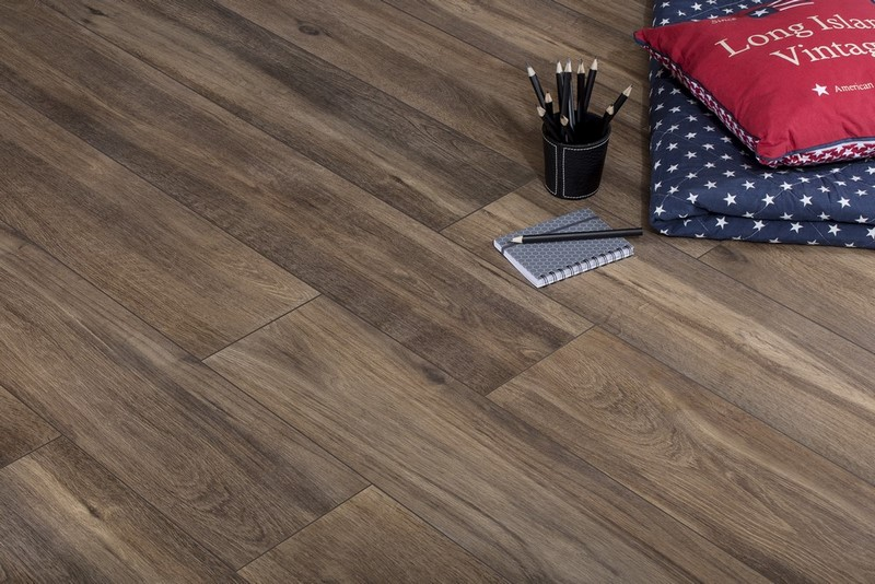 Mattina Marrone 120x20 Wood Look Porcelain Tiles Deco