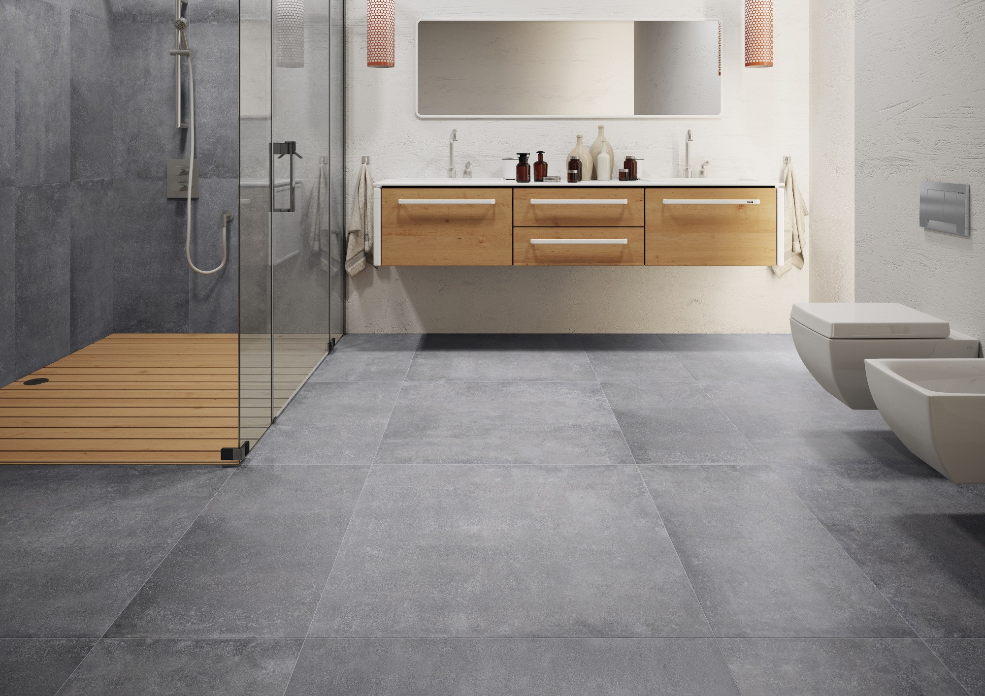 Montego Graphite 80x80 Wall And Floor Tiles Deco Stones