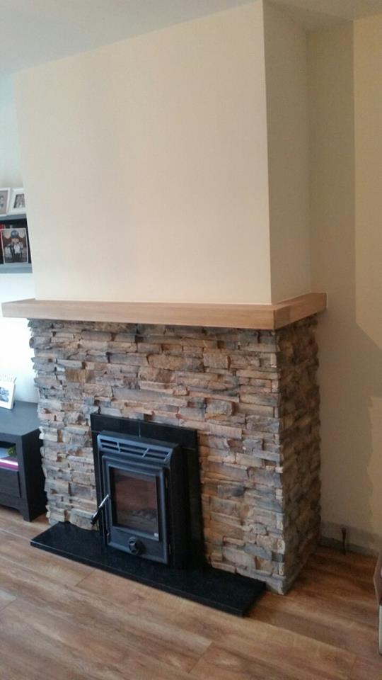 Mantelpiece For Fireplaces Oak Straight Deco Stones
