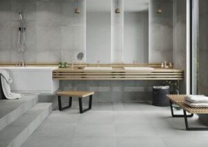 grey neutral tone porcelain tiles