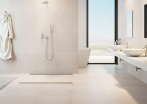 neutral colour matt floor tiles