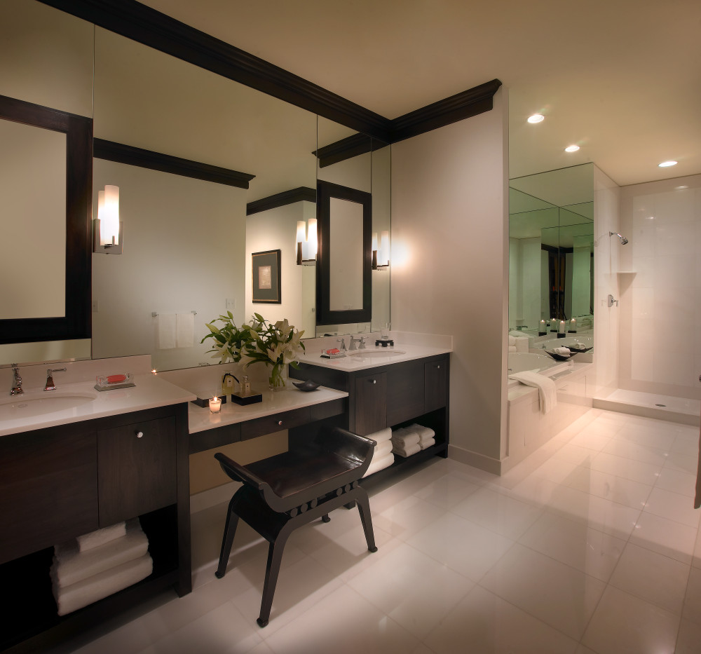 Modern Simplicity Is A Popular Bathroom Interior Design Choice