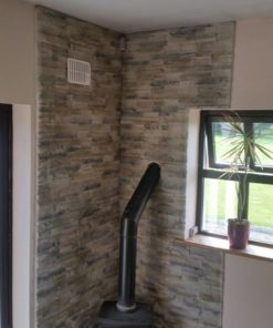 wall behind stove fireplace cladding decorative tiles heat resistant