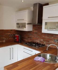 kitchen splashback brick reclaimed