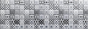 mosaic black and white tiles