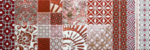 mosaic red and white tiles