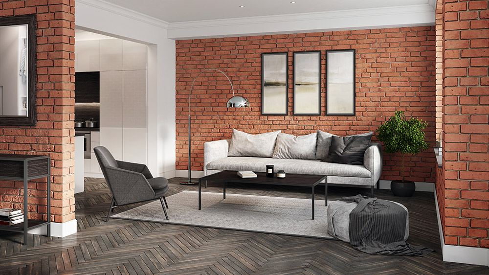 How to Create a Brick Cladding Feature Wall?