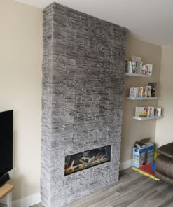 Madera Grey- Stone Cladding for Fireplace
