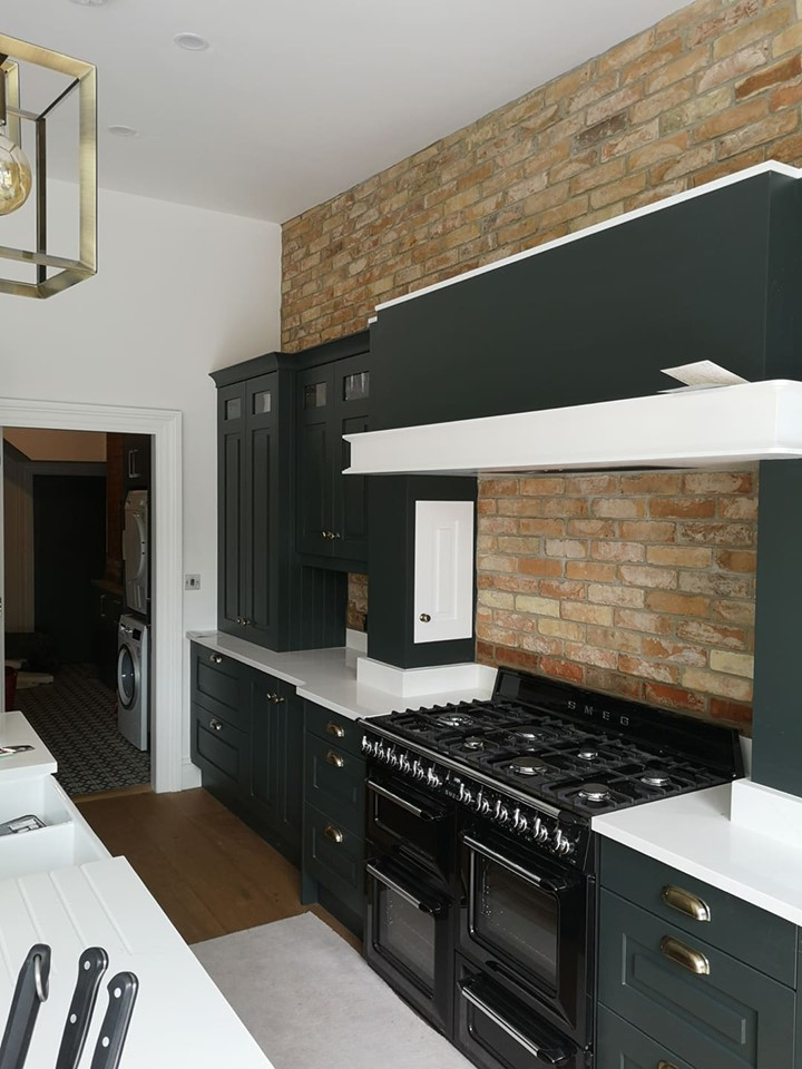 reclaimed brick tiles in kitchen
