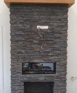 sierra grey chimney breast tiles