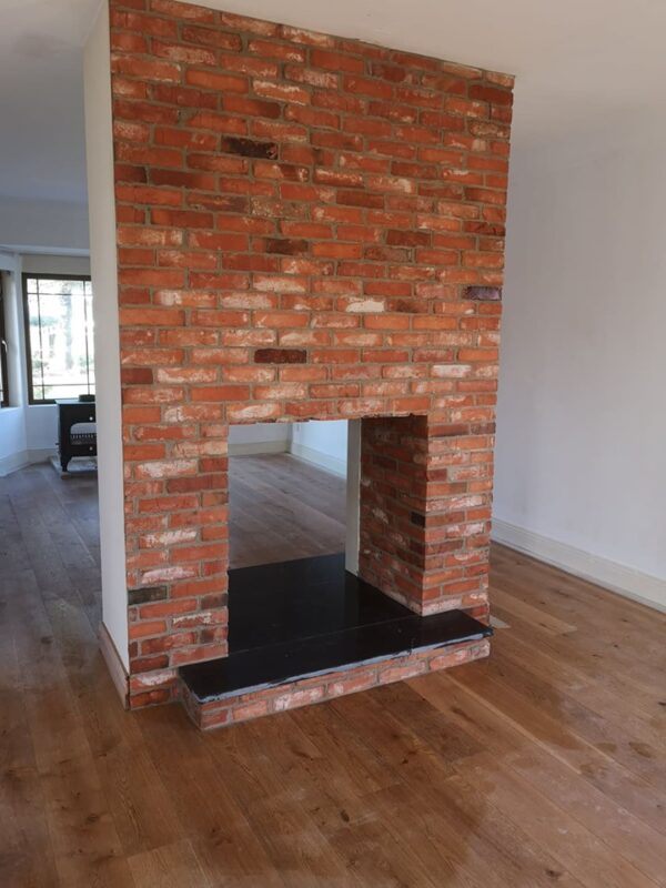 salvage brick slips for fireplace
