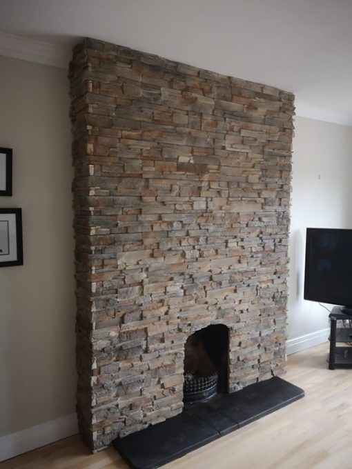 stone cladding for fireplace grenada volcanic