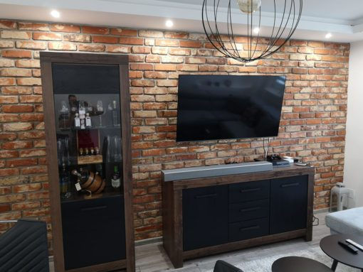 reclaimed brick slips wall cladding
