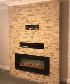 madera cream stone tiles for fireplace