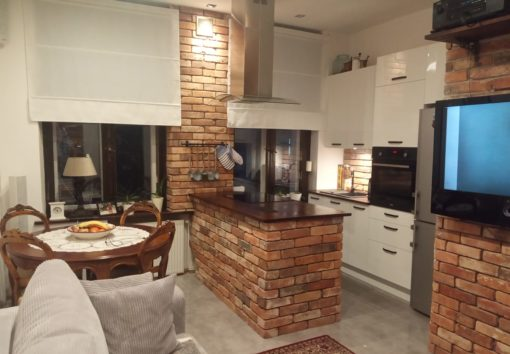 reclaimed brick slips wall cladding for kitchen splashback